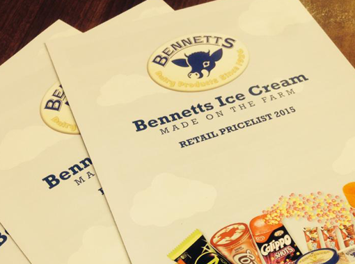 Bennetts Ice Cream Brochure